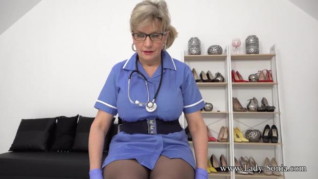 Lady-sonia.com- Busty Nurse Covered In Cum